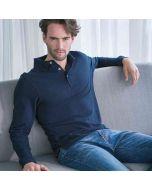 Henbury Men's Long Sleeve Cotton Polo Shirt