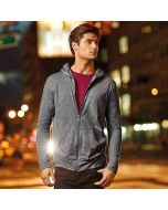 Anvil Men's Triblend Full-Zip Hooded Jacket
