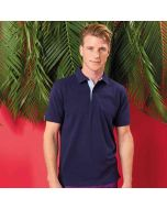 Asquith & Fox Men's Cotton Polo Shirt With Oxford Fabric Insert