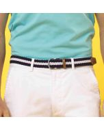Asquith & Fox Men's Two Colour Stripe Braid Stretch Belt