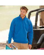 Fruit Of The Loom Adult Premium 7030 Zip Neck Sweatshirt