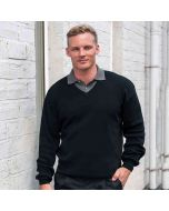 Rty Men's V-Neck Arcylic Wool Sweater