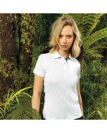 Asquith & Fox Women's Check Trim Polo Shirt