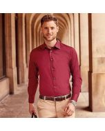 Russell Collection Men's Long Sleeve Easycare Fitted Shirt