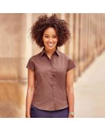 Russell Collection Women's Short Sleeve Easycare Fitted Stretch Shirt