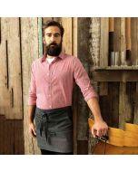 Premier Men's Microcheck (Gingham) Long Sleeve Cotton Shirt