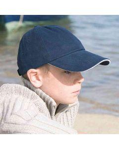 Result Headwear Kids Low Profile Heavy Brushed Cotton Cap With Sandwich Peak