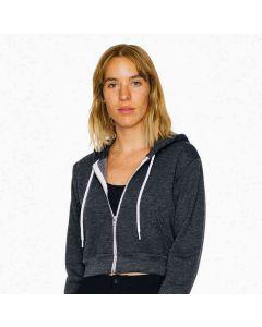 American Apparel Women's Flex Fleece Crop Hooded Sweatshirt