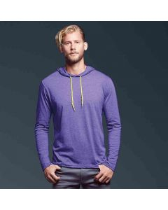 Anvil Men's Fashion Basic Long Sleeve Hooded T-Shirt