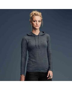 Anvil Women's Fashion Basic Long Sleeve Hooded T-Shirt