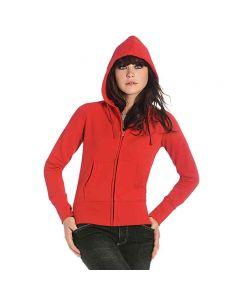 B&C Collection Women's Hooded Full Zip Sweatshirt