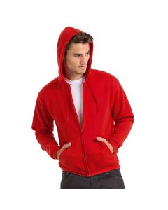 B&C Collection Men's Id.205 50/50 Poly/Cotton Full-Zipped Hooded Sweatshirt
