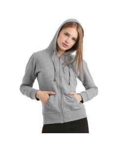 B&C Collection Women's Wonder Full Zip Hooded Sweatshirt