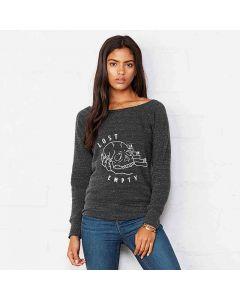 Bella + Canvas Women's Sponge Fleece Wide Neck Sweatshirt