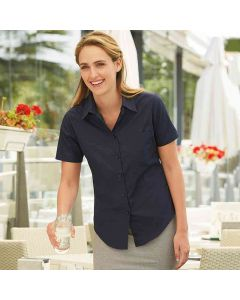 Fruit Of The Loom Women's Lady-Fit Poplin Short Sleeve Shirt