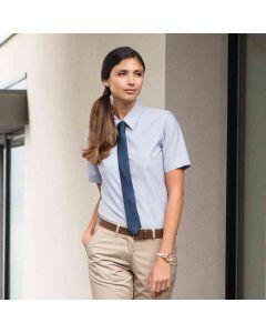 Henbury Women's Short Sleeve Classic Oxford Shirt