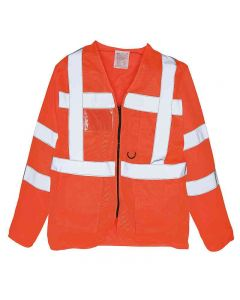 Yoko Adult Hi-Vis Executive Long Sleeve Waistcoat