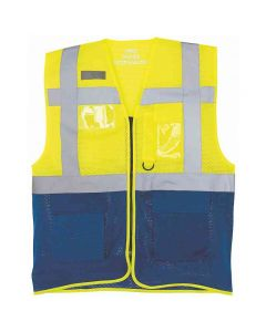 Yoko Adult Hi-Vis Top Cool Open-Mesh Executive Waistcoat