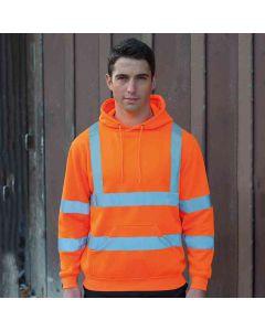 Rty High Viz Men's High-Visibility Hooded Sweatshirt