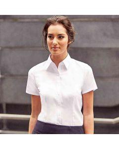 Russell Collection Women's Short Sleeve Herringbone Shirt