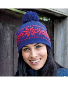 Result Winter Essentials Adult Fair Isle Knitted Hat