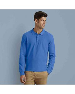 Gildan Adult Premium Cotton Long Sleeve Double Pique Polo Shirt