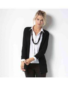 Kustom Kit Women's Long Line V-Neck Cardigan Long Sleeve