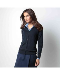 Kustom Kit Women's Arundel V-Neck Cardigan Long Sleeve