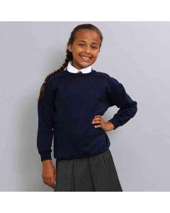Maddins Kids Coloursure Curved Raglan Sweatshirt