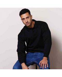 Maddins Coloursure Polo Shirt Plaquet Sweatshirt