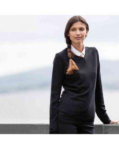Henbury Women's Cashmere Touch Acrylic V-Neck Jumper
