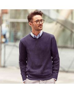 Russell Collection Men's V-Neck Knitted Sweater
