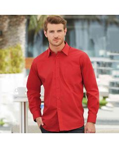 Fruit Of The Loom Men's Poplin Long Sleeve Shirt