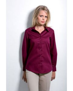 Kustom Kit Corporte Oxford L/S Fitted Blouse