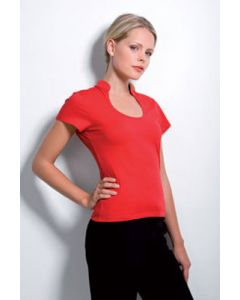 Kustom Kit Womens Corporate Keyhole Neck Top