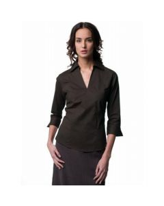 Russell Collection Women's ¾ Sleeve Stretch Zip Top
